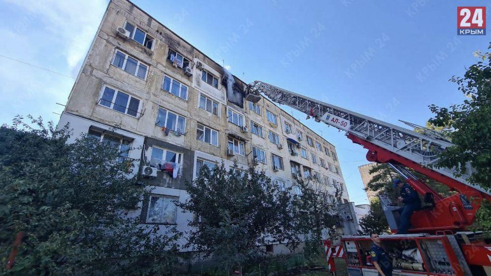 В Евпатории потушили пожар в многоэтажном жилом доме
