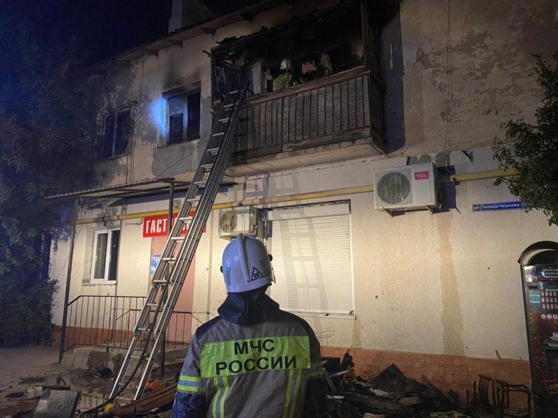 Один человек пострадал при пожаре в жилом доме в Джанкое