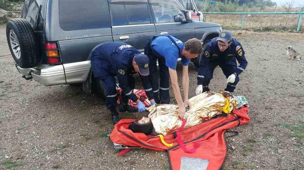 """Спасатели Алуштинского АСО ГКУ РК """"КРЫМ-СПАС"""" оказали помощь женщине, пострадавшей в результате возгорания палатки"""