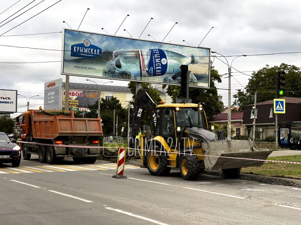 На проспекте Победы в Симферополе начался ремонт дороги. ФОТО