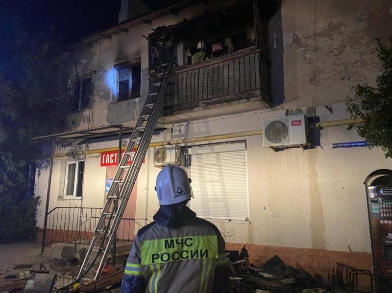 В Джанкое на пожаре пострадал человек