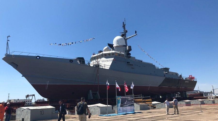 Второй новейший корабль проекта «Циклон» готовят к спуску на воду в Керчи
