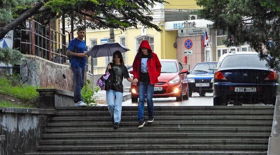 Сильные дожди ожидаются в Крыму в конце рабочей недели