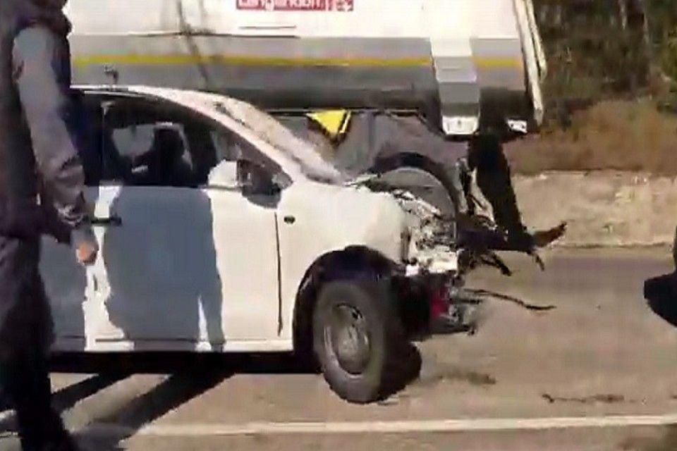 В ДТП с рейсовым автобусом в Крыму погибли два человека