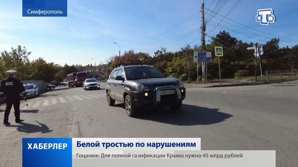 Акцию «Белая трость» провели сегодня в Симферополе