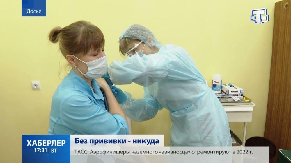 Обязательную вакцинацию против ковида ввели для работников ряда сфер в Крыму