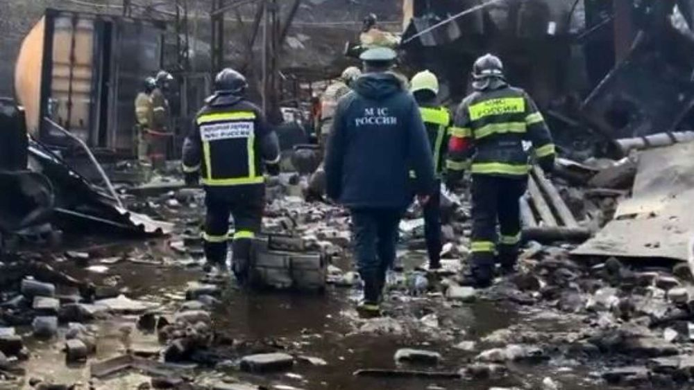 Взрыв на пороховом заводе под Рязанью попал в объектив камеры