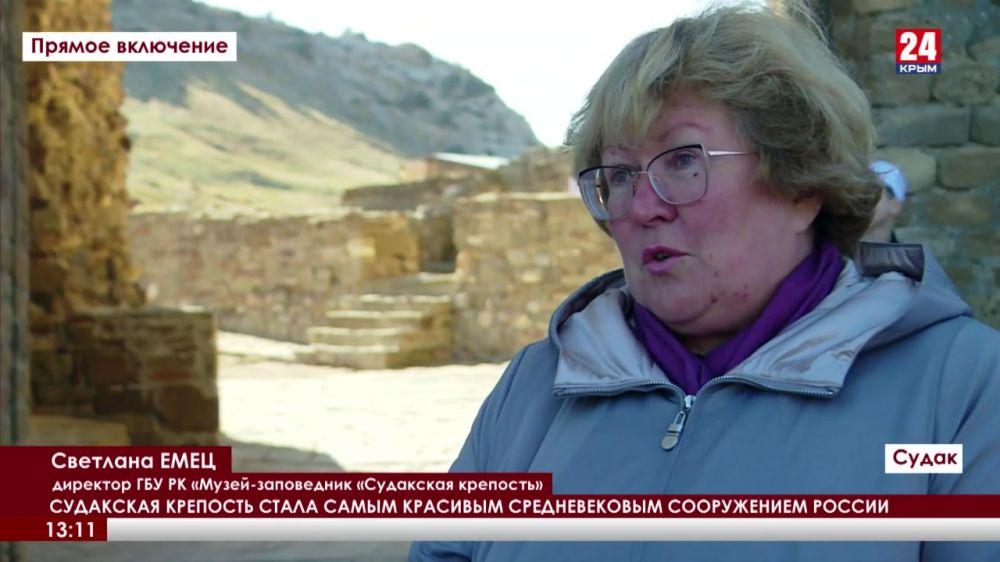 Судакская крепость стала самым красивым средневековым сооружением России