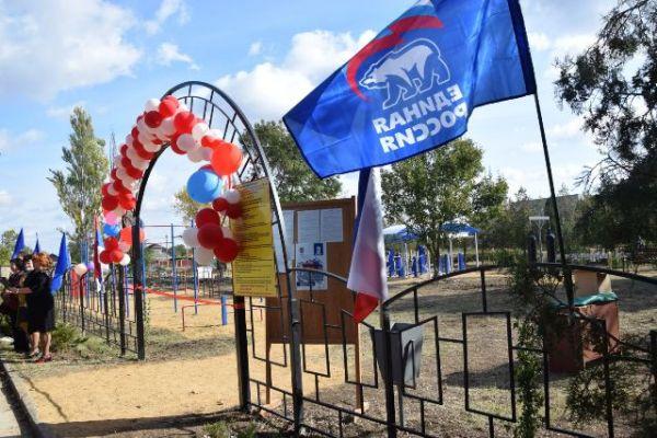 Спорт – в села! В Красногвардейском районе продолжается открытие новых спортивных площадок