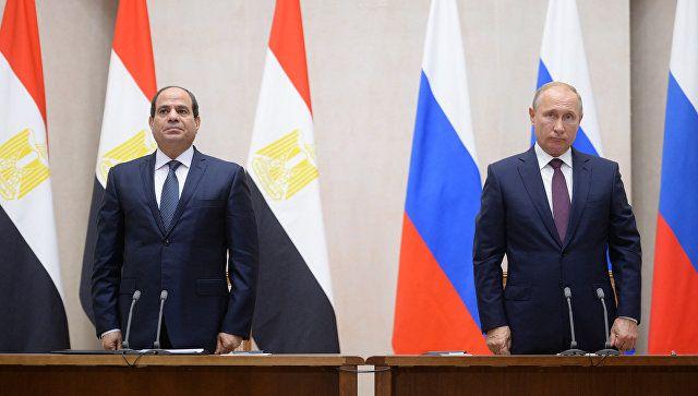 Встреча президентов России и Египта