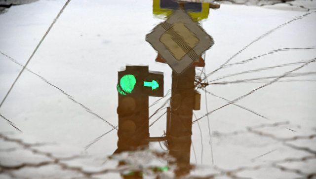 Последствия аварии на водоводе в центре Симферополя. 9 декабря 2018