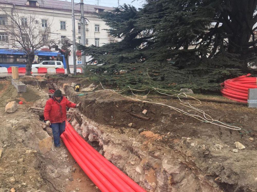 В центре Севастополя во время реконструкции обнаружили артефакты
