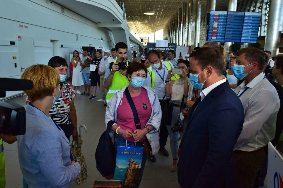 Как встречали в Симферополе Тигролет из Владивостока - фото
