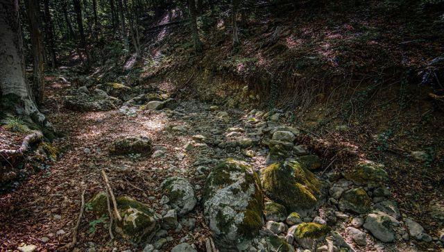 Высохшее русло реки Егерлик-Су в Крыму
